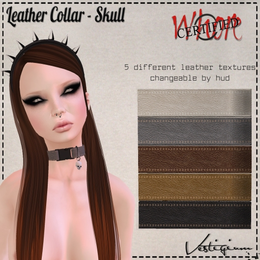 Vestigium - Leather Collar - Skull Ad WFC